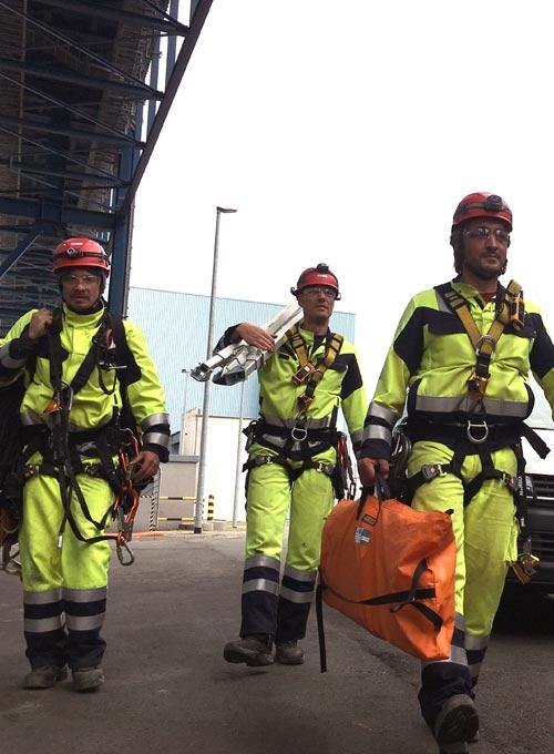 Baustellensicherung durch Höhenrettungsteam - RWE Eemshaven