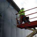 IBE Industrieservice professionelle Fassadenreinigung Hubsteiger Scherenbühne