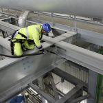 Reinigung von Trägern im Kraftwerk